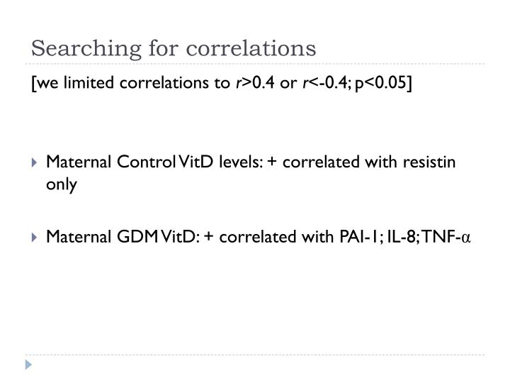 Searching for correlations