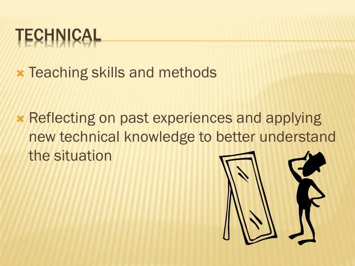 Teaching skills and methods