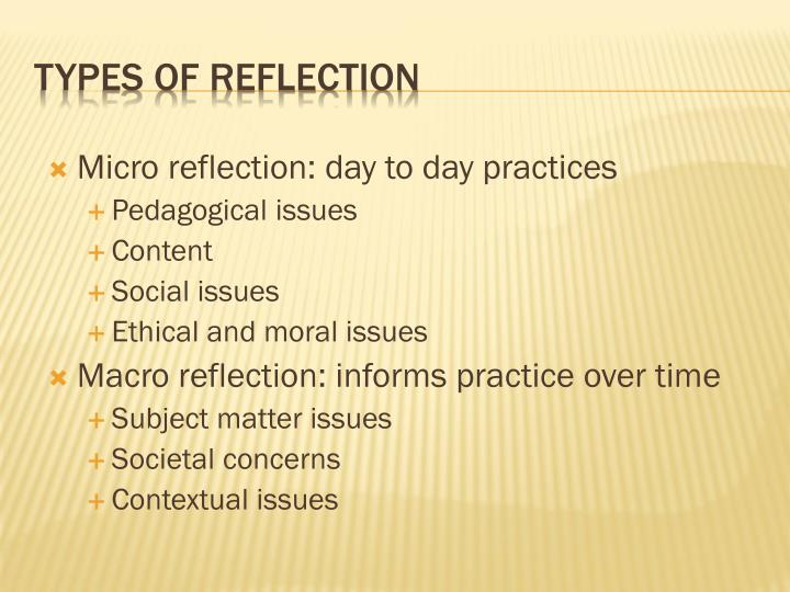 Micro reflection: day to day practices