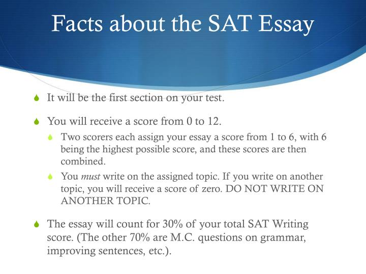 Facts about the sat essay