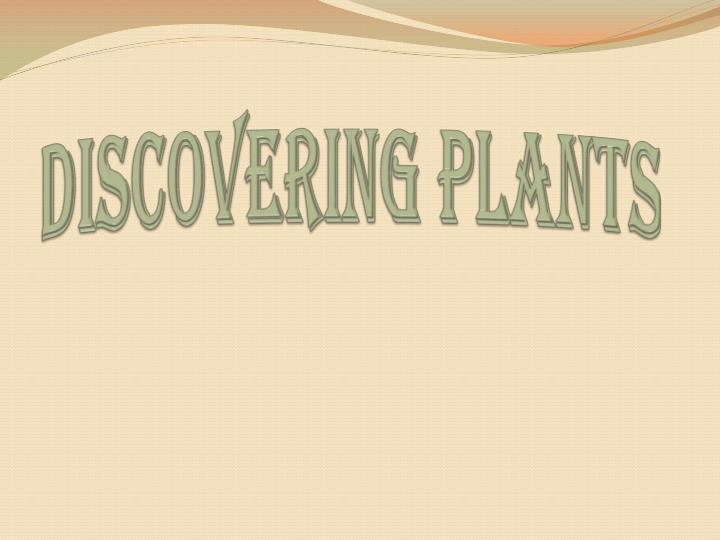discovering plants n.
