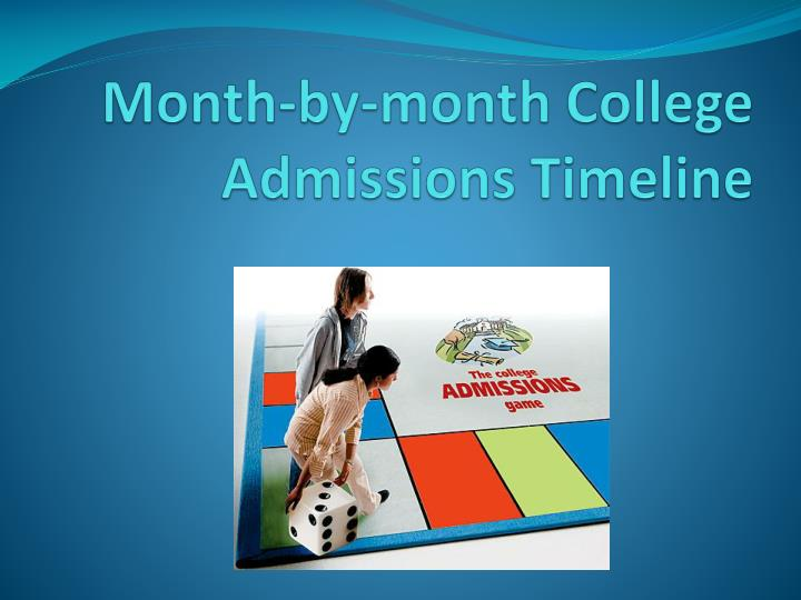 month by month college admissions timeline n.