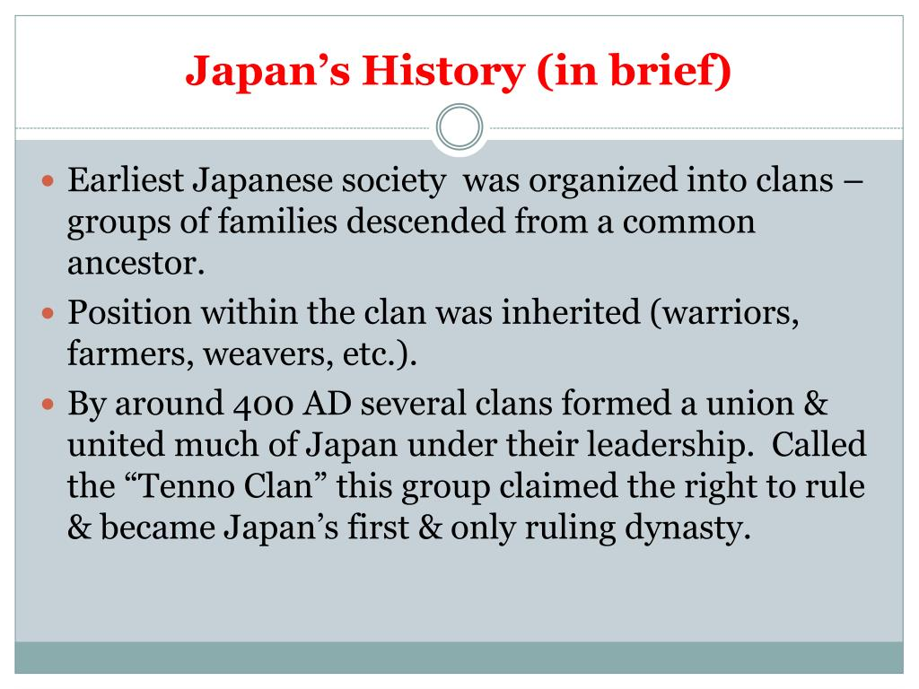 PPT - Japan's History (in brief) PowerPoint Presentation
