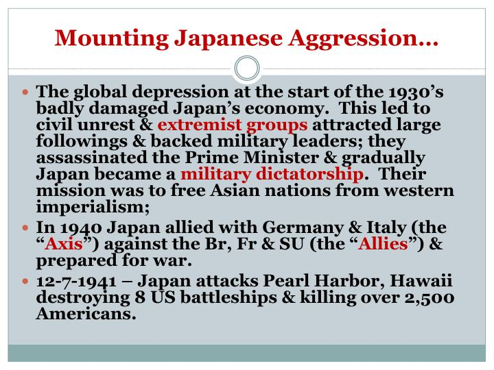 Mounting Japanese Aggression…