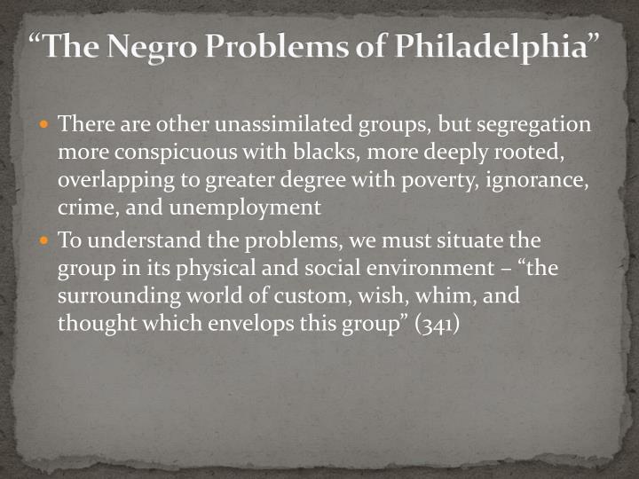 """""""The Negro Problems of Philadelphia"""""""