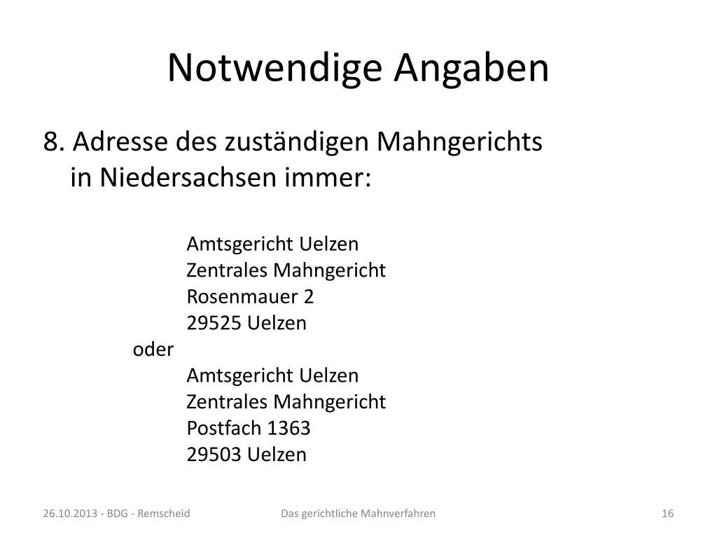PPT - Das gerichtliche Mahnverfahren PowerPoint Presentation