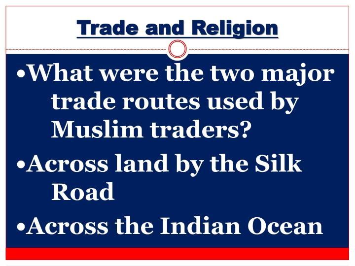 Trade and Religion