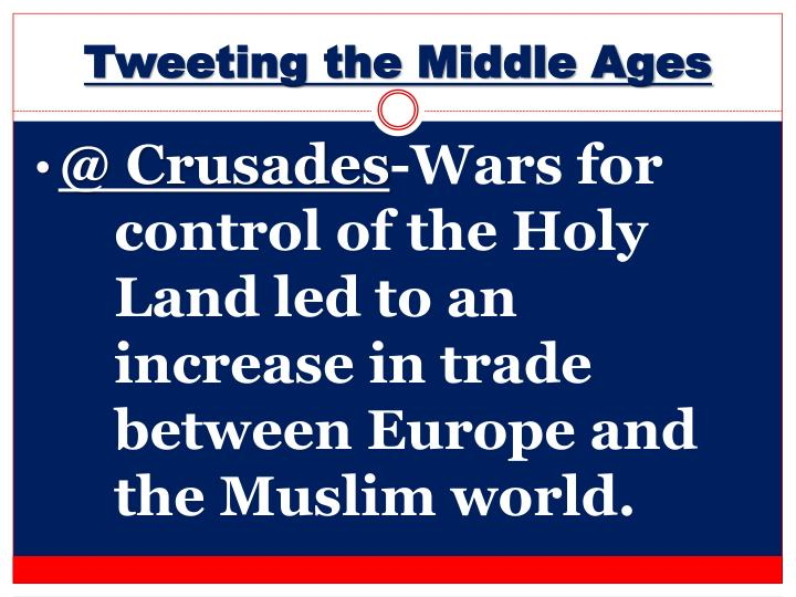 Tweeting the Middle Ages