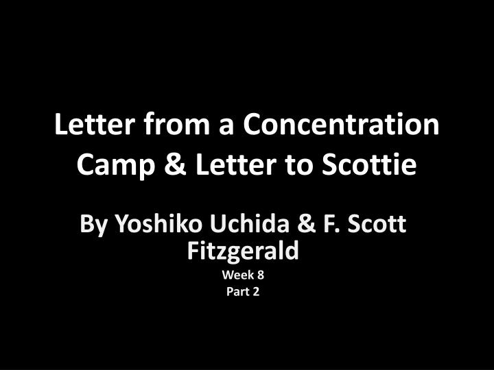 letter from a concentration camp letter to scottie n.