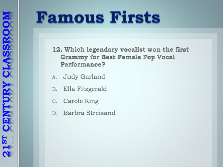 Famous Firsts