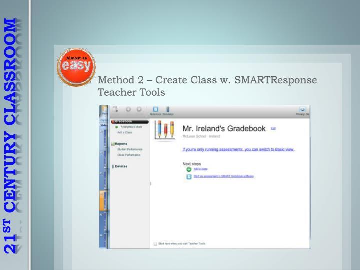 Method 2 – Create Class w.