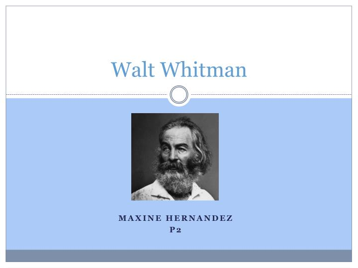 the early life and works of walt whitman Published anonymously as a serial in 1852, life and adventures of jack engle reveals much about whitman's early life and work that the poet later tried to hide photo: national archives, ho walt whitman in 1887.