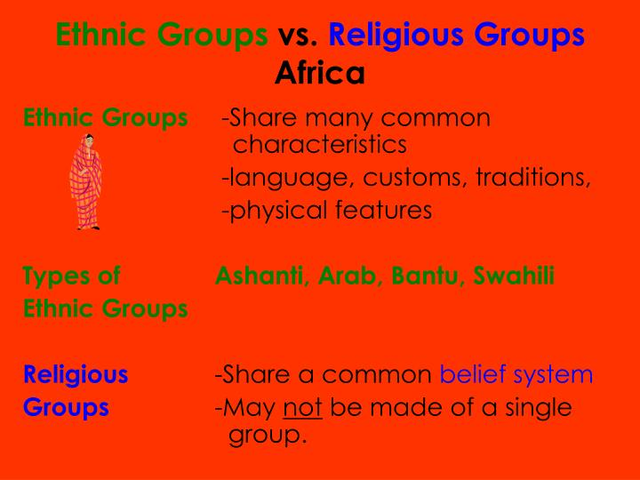Ppt Ethnic Groups Vs Religious Groups Africa Powerpoint