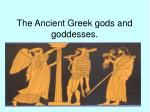 the ancient greek gods and goddesses