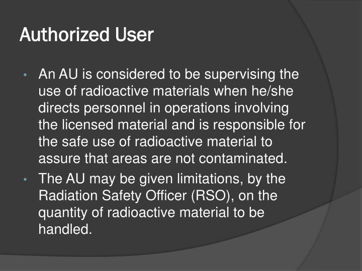 Authorized user1