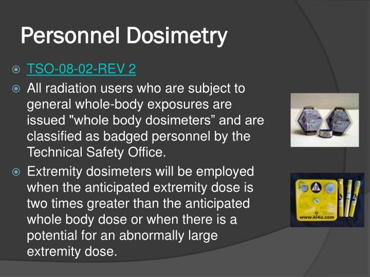 Personnel Dosimetry