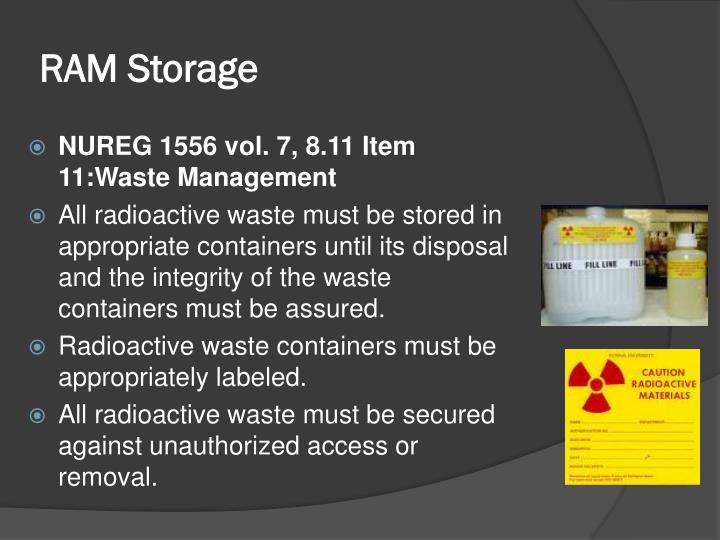 RAM Storage