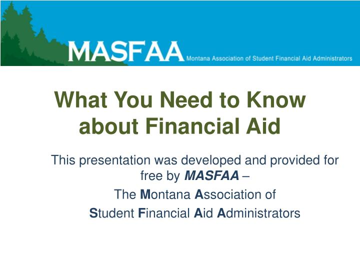 what you need to know about financial aid n.