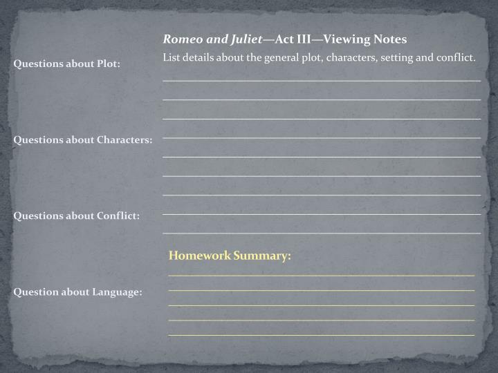 Homework S
