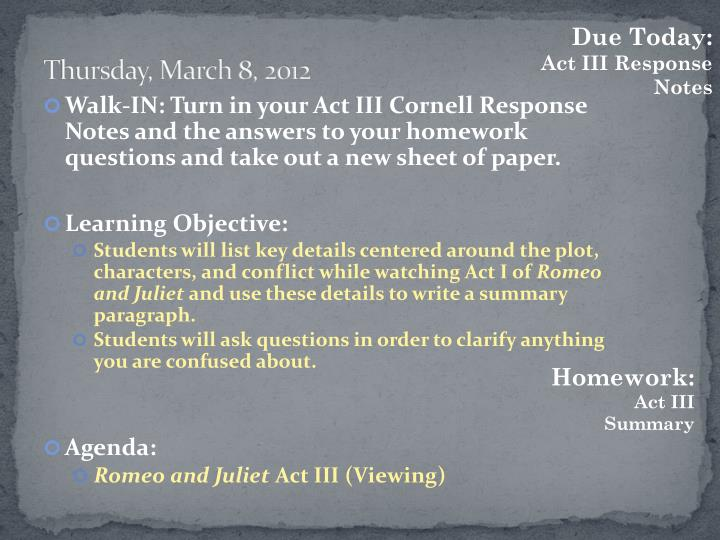 Thursday, March 8, 2012