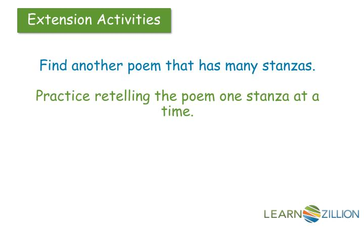 Find another poem that has many stanzas.