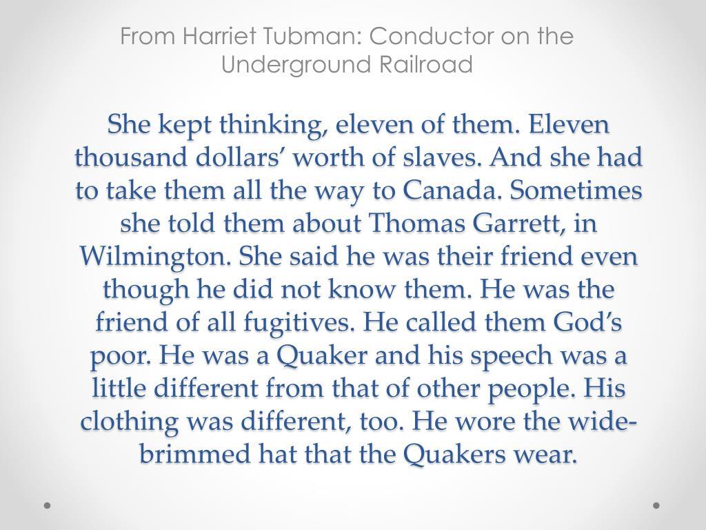 the life of harriet tubman essay