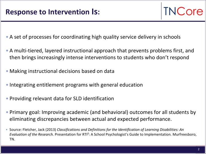 response to intervention service delivery options essay Response to intervention is a framework for organizing planned sequences of prevention and empirically validated interventions ordered by intensity plans might increase or decrease in intensity depending on risk status and outcomes.