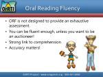 oral reading fluency