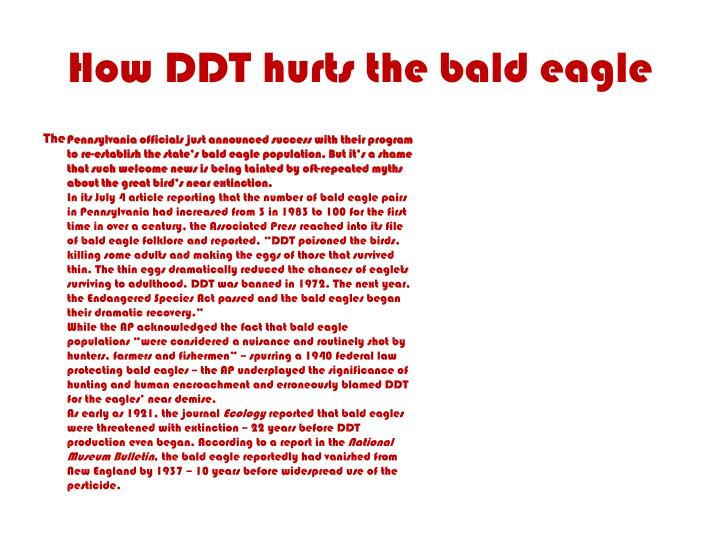 How DDT hurts the bald eagle