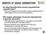 benefits of sexual reproduction