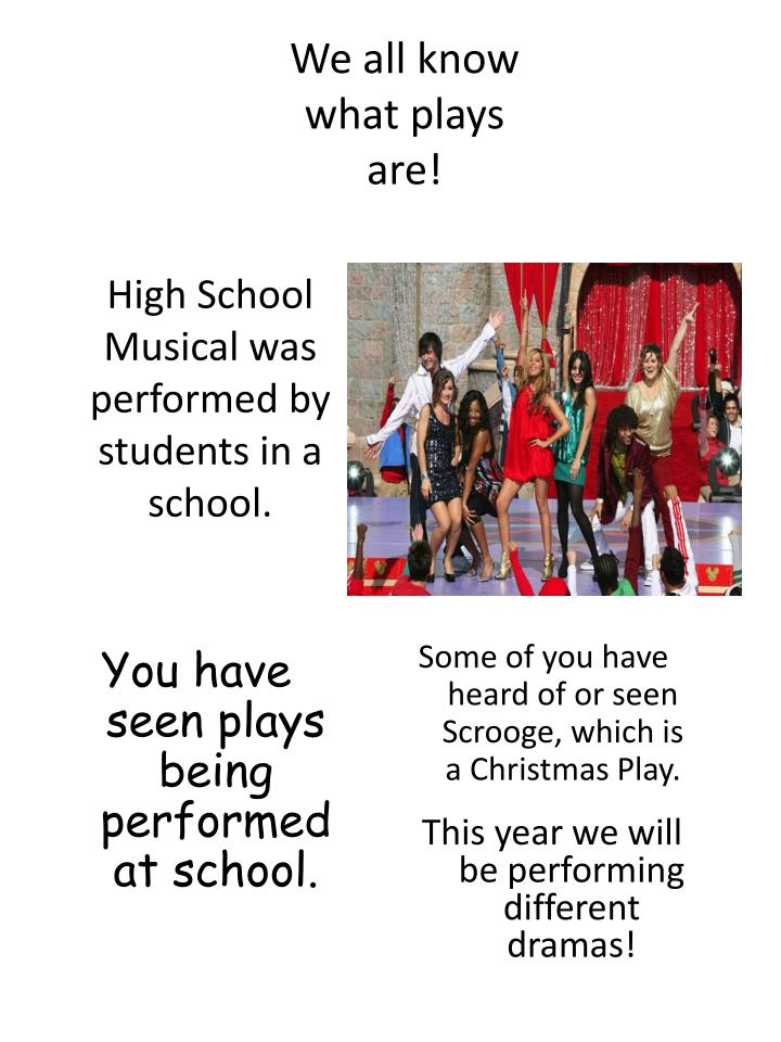 We all know what plays are!