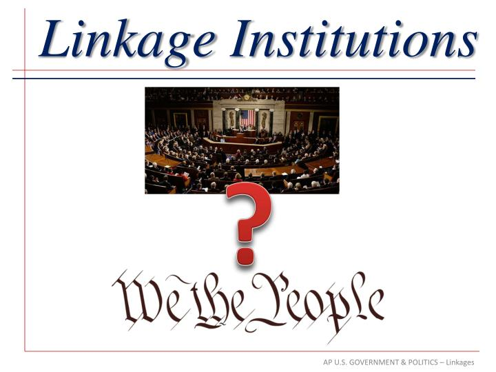 linkage institutions n.