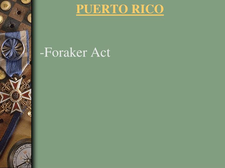 -Foraker Act