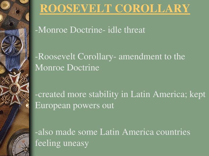 -Monroe Doctrine- idle threat