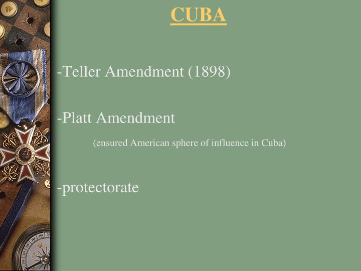 -Teller Amendment (1898)