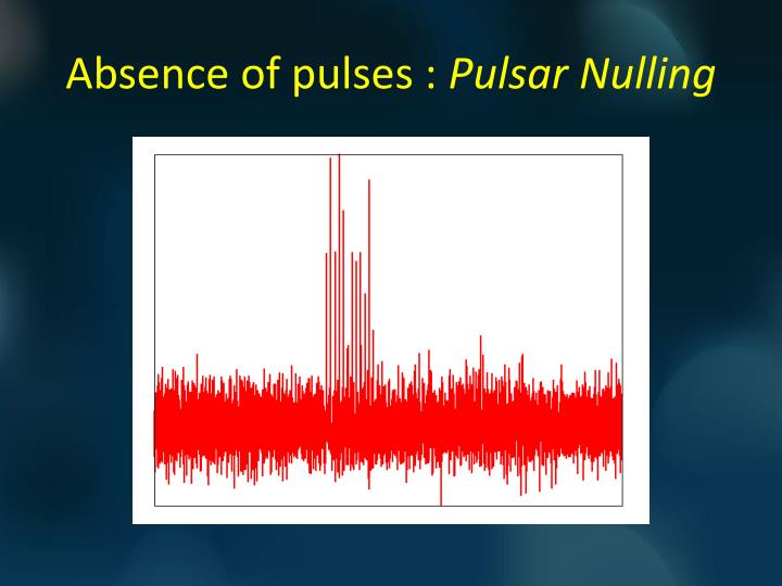 Absence of pulses pulsar nulling1