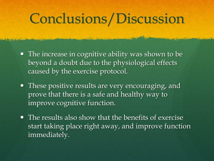 Conclusions/Discussion