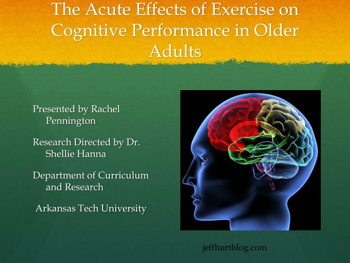 The acute effects of exercise on cognitive performance in older adults