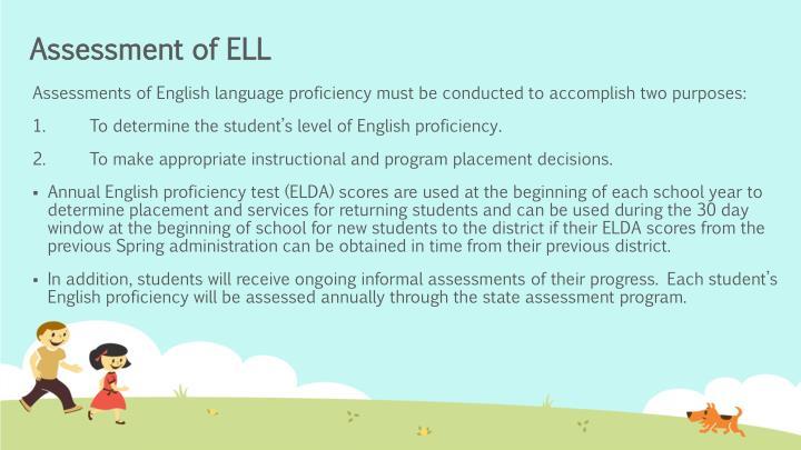 Assessment of ELL