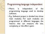 programming language independent