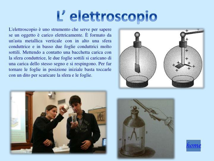 L' elettroscopio