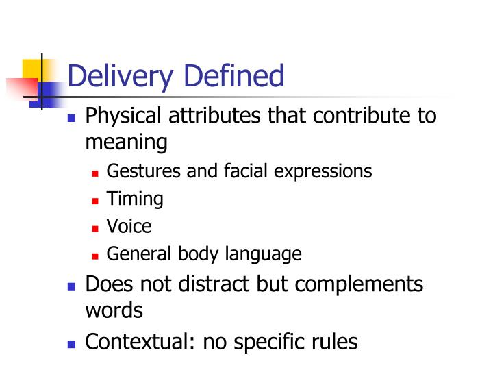 Delivery defined