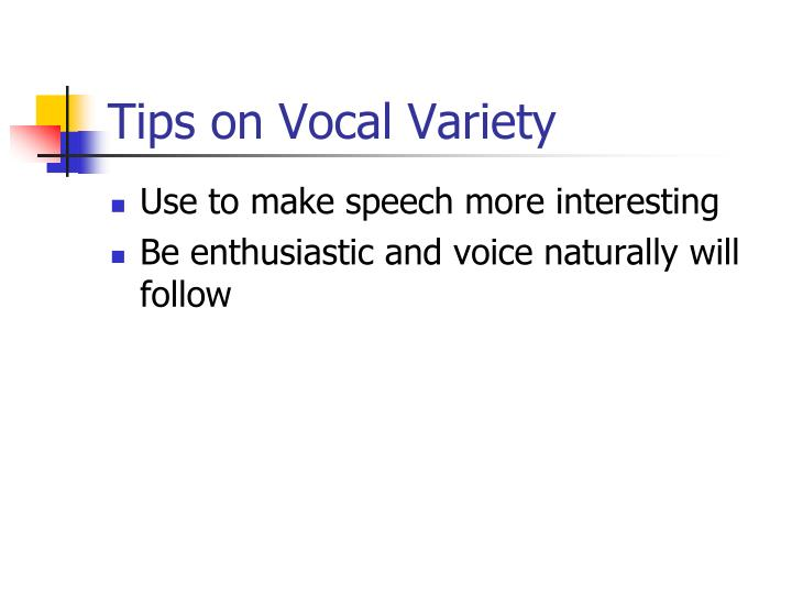 Tips on Vocal Variety