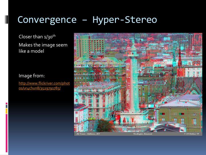 Convergence – Hyper-Stereo