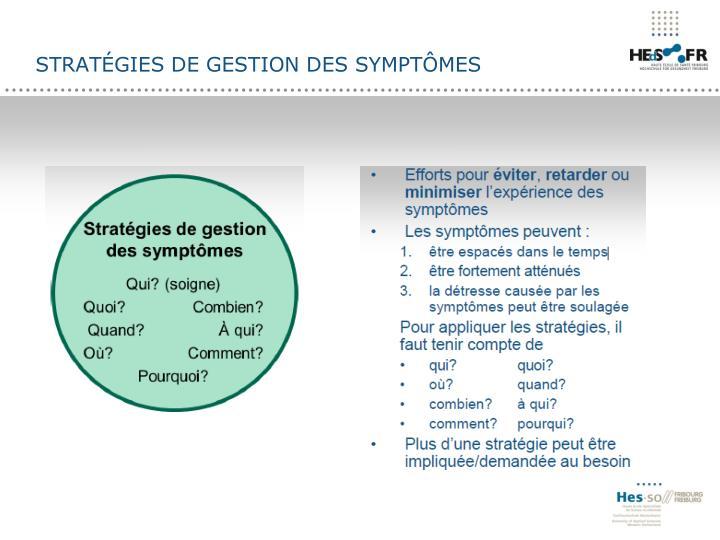 Stratégies de gestion des symptômes