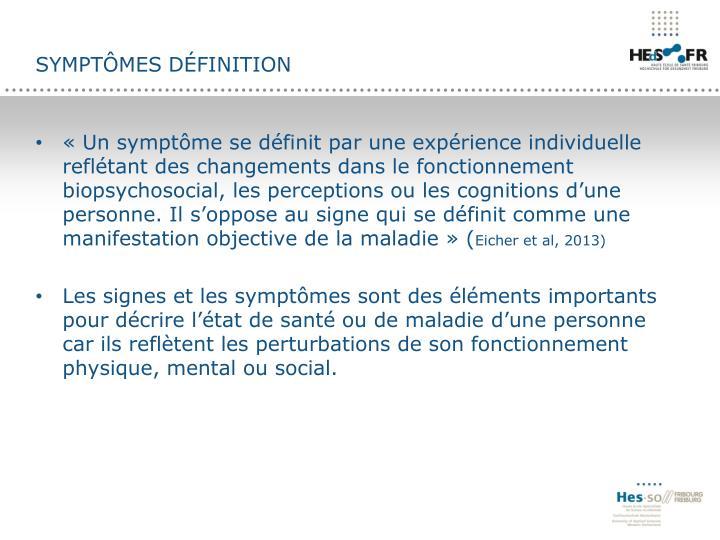Symptômes définition