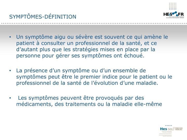 Symptômes-définition