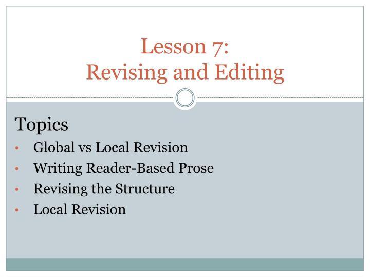 lesson 7 revising and editing n.