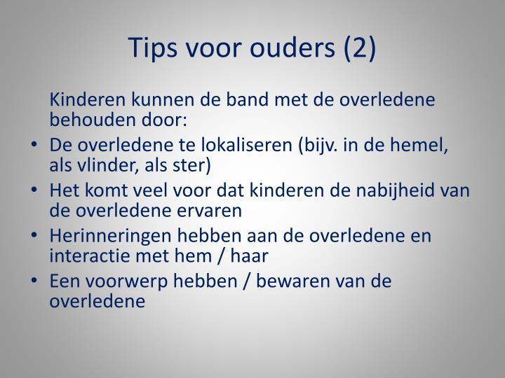 Tips voor ouders (2)