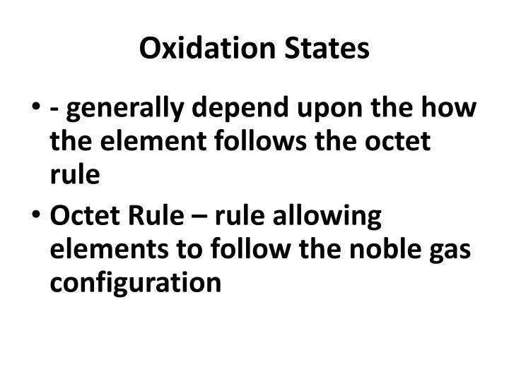 Oxidation States